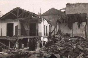 Bombardeo en Alcázar de San Juan. Bdh. BNE. Caja 42-8-2