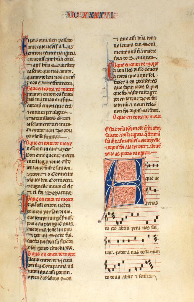 Cantiga nº 246_Real Biblioteca del Monasterio de San Lorenzo de El Escorial_1