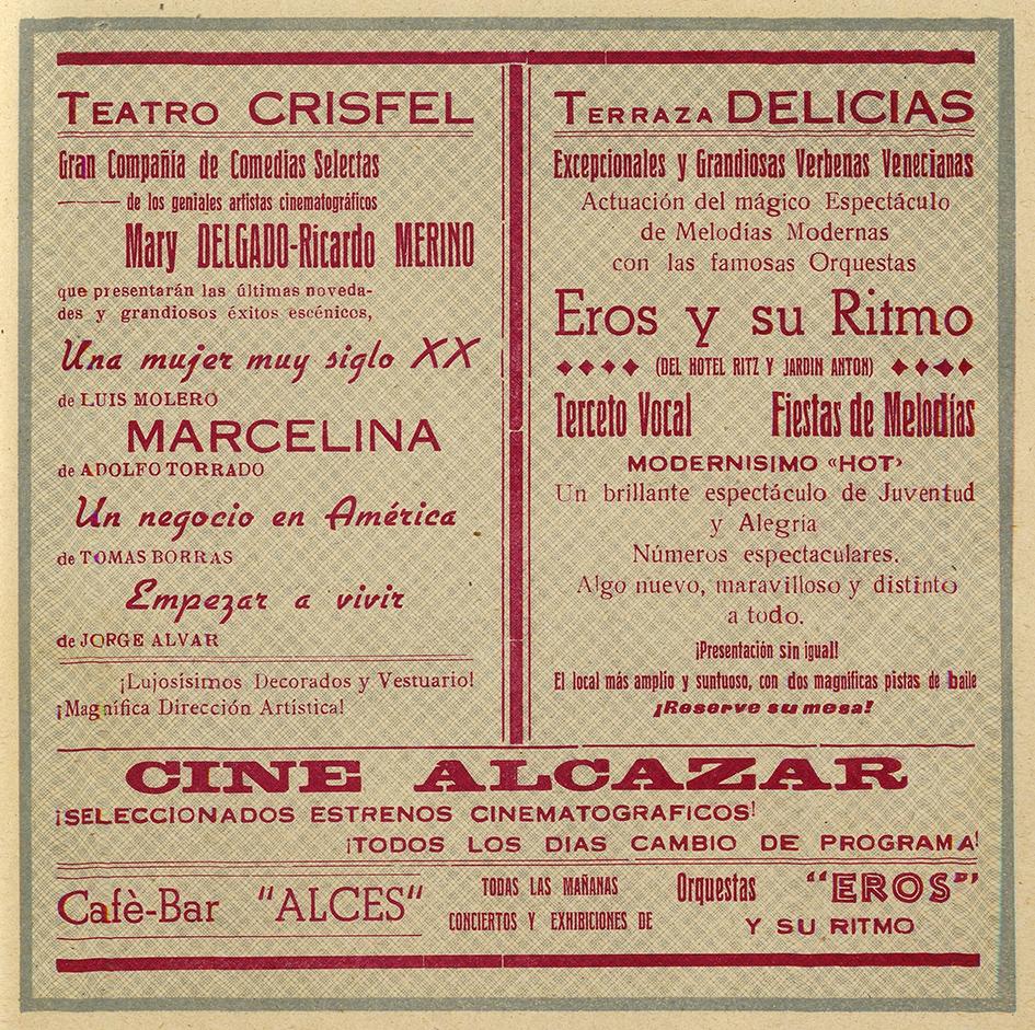Cine Alcázar y Terraza Delicias